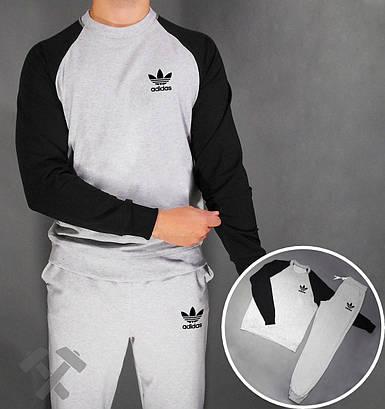 Спортивный костюм Adidas серый с черным