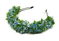 Красивый обруч для волос с цветами Изморозь