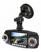 Автомобильный видео регистратор X-8000, G-сенсор, 2 камеры, циклическая запись.