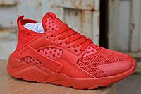 Женские кроссовки Nike air Huarache ultra красные, копия