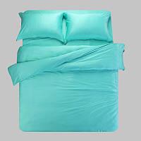 Элитное  бирюзовое постельное белье Cатин