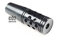 Надульник отсекатель для PCP и ППП винтовок с резьбой на стволе ½ 20 UNF, анод