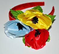 Банты, веночки, шпилька с цветами
