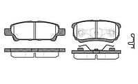 Оригинальные задние колодки Mitsubishi Lancer от 2003г.
