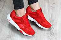 Женские кроссовки красные Puma