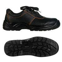 Полуботинки (туфли) юфтевые СМ рабочие с мет.подноском ПУ (литая) подошва черные