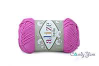 Турецкая пряжа Alize Bella ярко-розовый №489
