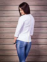 Кофта женская Sunshine сзади замочек p.42-50 цвет белый VM1886-1