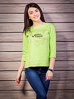 Кофта женская Sunshine сзади замочек p.42-50 цвет салатовый VM1886-6
