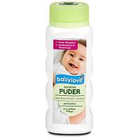 Присыпка детская с маслом жожоба и экстрактом календулы Babylove sensitive Puder 100 мл.