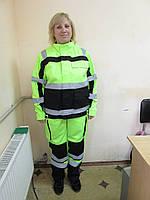 Сигнальный костюм, куртка и брюки, рабочий костюм с СОП