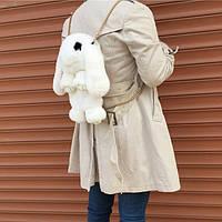 Сумка кролик натуральный мех белый