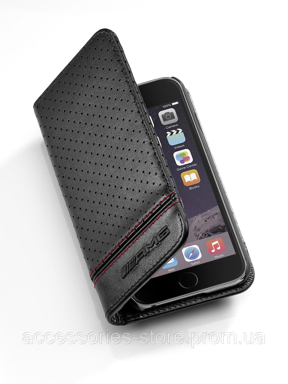 Чехол для iPhone 7 Mercedes-Benz AMG Cover for iPhone® 7, Black Leather