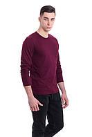 Реглан мужской однотонный Реглан, С, темно-бордовый