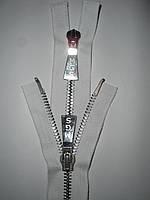 Молния металлическая 62см, тип 8, 2 бегунка, фото 1