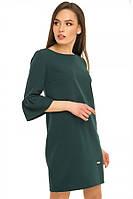 Платье из костюмной ткани с модным рукавом воланом 5 цветов
