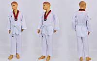Добок кимоно для тхэквондо MOOTO ITF  (хлопок 35%, полиэстер 65%, р-р 1-6 (110-160см), 240г на м2)