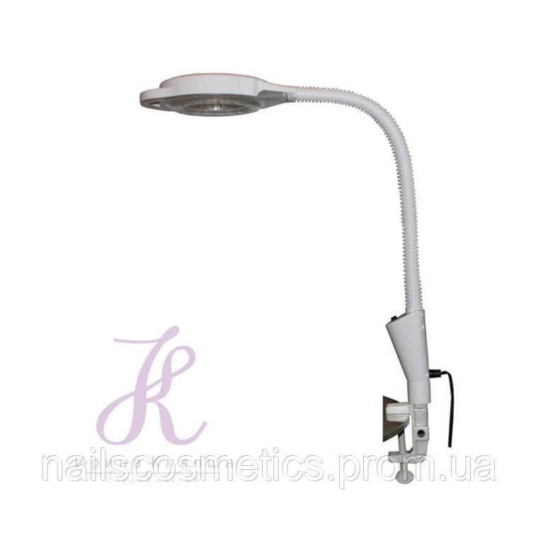 Лампа - лупа настольная со струбциной
