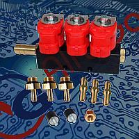 Газовые форсунки Valtek на 3 цилиндра 3 Ом