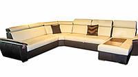 Современный модульный диван в коже FX-15 B8 угол C (340*264 см)