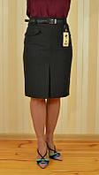 Стильная деловая юбка  длинна за колено серая 1769-841 MURAY&Co Турция