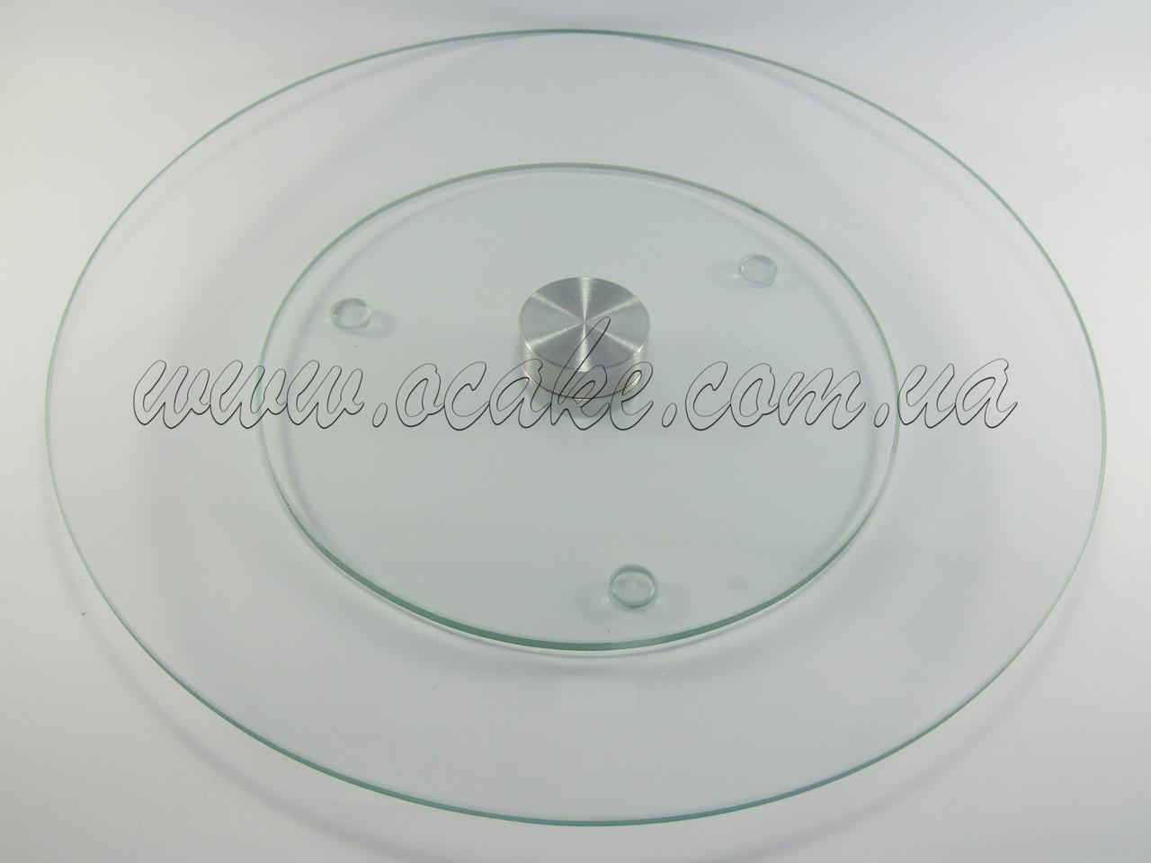 Стойка вращающаяся стеклянная, диаметр 30 см