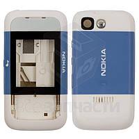 Корпус для мобильного телефона Nokia 5200, high-copy, синий, слайдерный механизм, полный комплект