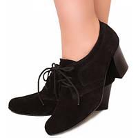 Туфли женские на шнурках, высокий каблук, купить оптом и в розницу в Украине р. 36-41, 4 цвета Sev Mar S1634..