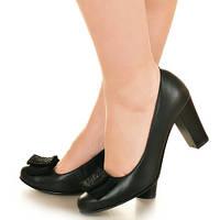 Туфли женские на высоком каблуке с декором бант, купить от прямого поставщика Одесса, р.36-41,  Sev Mar S1843