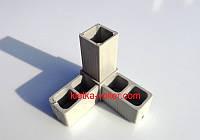 """Пластиковый соединитель """"Розетка"""" для алюминиевого профиля 20 х 20 х1,5мм"""
