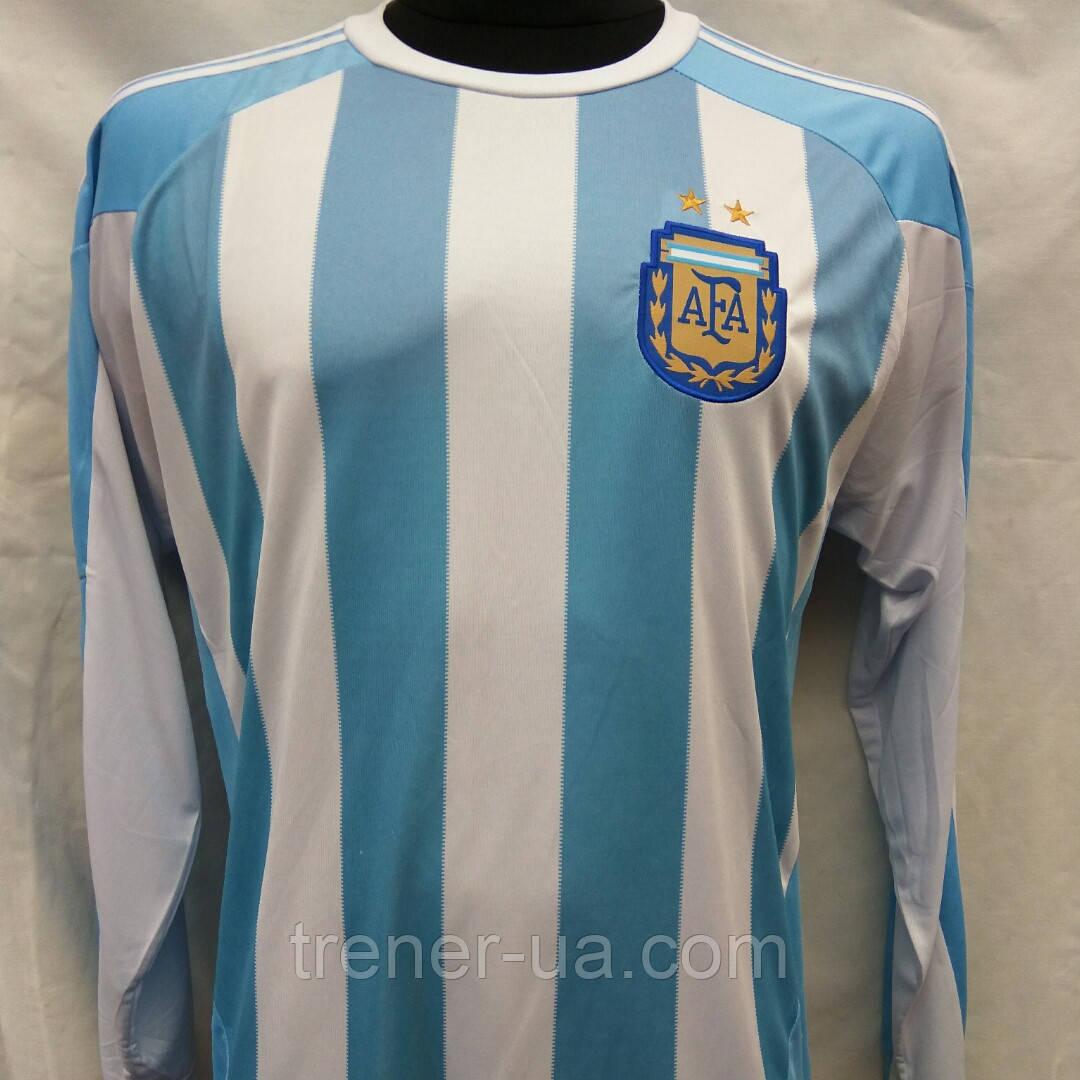 Футбольная форма длинный рукав взрослая Аргентина