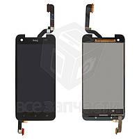 Дисплей для мобильного телефона HTC X920d Butterfly, черный, с сенсорным экраном, (137*68 мм)