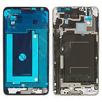Рамка крепления дисплея для мобильных телефонов Samsung N900 Note 3, N9000 Note 3, серая