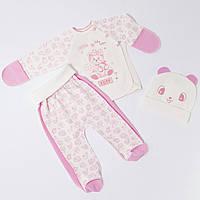 . Комплекты для новорожденных девочек 62см Хлопок-интерлок,1860инкс, на выписку,в наличии 56,62рост