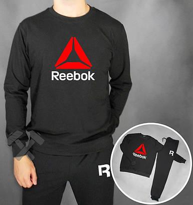Спортивный костюм Reebok черный красны треугольник
