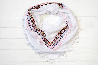 Платок Бардо белый