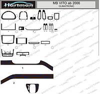 Mercedes Viano накладки на панель. VIP, Польша (модель с электронным климат-контролем)