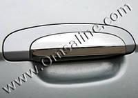 Хром на ручки для стайлинга авто Hyundai Getz 2002+ (Omsa, 4 шт)