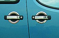 Хромированные накладки на двери для ручек Fiat Doblo 2005-2010 (Omsa, 2 шт)