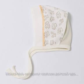 Чепчик для новорожденного ребенка.р 62 1603инк. Хлопок-интерлок В наличии для 56 и 62 роста ., фото 2