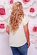 Футболка Beauty красные розы молоко, фото 3