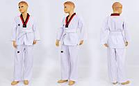 Добок кимоно для тхэквондо Mooto (хлопок 35%, полиэстер 65%, р-р 1-6 (110-160см), 190г на м2)