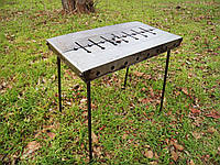 Раскладной мангал - чемодан на 8 шампуров с кочергой