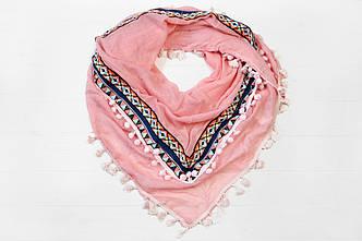 Платок Бардо розовый
