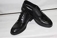 Мужские классические туфли Oxford черного цвета из натуральной кожи