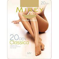 Тонкие прозрачные сексуальные колготки Мирей c усиленным носком 20den cls20 (5 ед. в упаковке)
