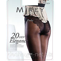 Лучшие женские колготки Mirey с ажурными трусиками с ластовицей 20 den elg20