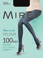 Матовые эластичные колготки Mirey Velour 100 den из микрофибры трехмерной эластичности, с ластовицейvelour100 Украина, Киев, Одесса (5 ед. (один цвет
