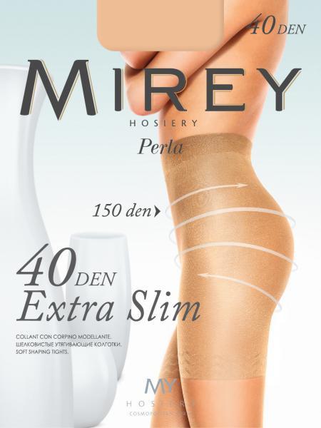 Шелковистые колготки с утягивающими шортиками, плоский шов и ластовица Mirey Extraslim40 40 ден