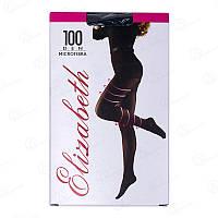 Красивые колготки Elizabeth женские с лайкрой и микрофиброй 100 den 00124-1 (5 ед. (один цвет и размер) в упаковке)